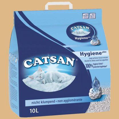 Catsan - Litière Hygiene plus pour chat - Contenu : 10 litres
