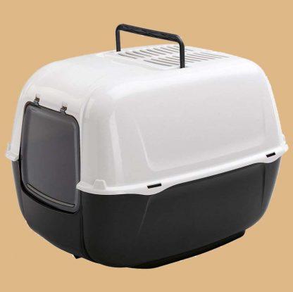 Ferplast - Maison de toilette pour chat - Noir - 52,5 x 39,5 x 38 cm