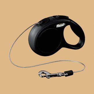 Flexi - Laisse en cordon noir pour chat d'une longueur de 3 mètres