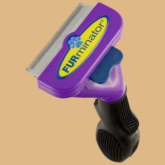 Furminator - Outil de toilettage pour chat de grande taille - Poils courts - Nettoyage en 1 clic
