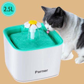 Parner - Fontaine à eau automatique pour chat avec filtre - 2,5 litres