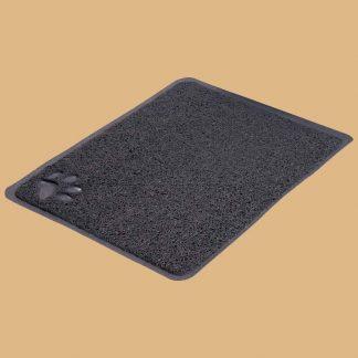 Trixie - Tapis en PVC pour bac à litière pour chat - 37 × 45 cm - Anthracite