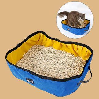 Uteek - Boîte à litière pour chat pliable et imperméable