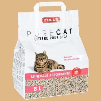 Zolux - Pure Cat - Litière minérale pour chat - Sac de 8 litres