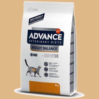 Weight Balance - Croquettes vétérinaires pour chat - Quantité : 8 kg - Marque : Advance Veterinary Diets