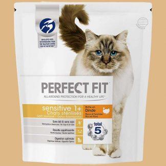 Perfect Fit - Sensitive - Croquettes pour chat stérilisé à la Dinde - Quantité : 5,6 kg
