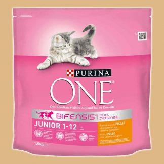 Croquettes pour chatons de 1 à 12 mois - Goût : Poulet - Sac de 1,5 kg - Marque : Purina One