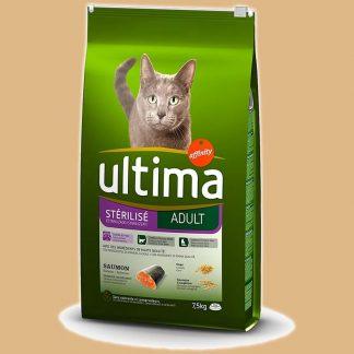 Ultima - Croquettes pour chat adulte stérilisé - Saumon - 10 kg
