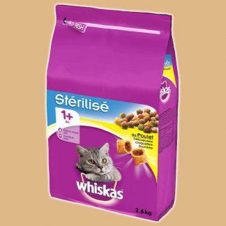 Croquettes au poulet pour chat stérilisé de plus d'un an - Marque : Whiskas