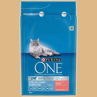 Croquettes pour chat stérilisé - Arôme : Saumon et blé - Marque : Purina One