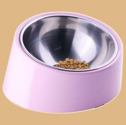 Gamelle inclinée pour chat - Bol en inox - Plusieurs coloris disponibles - Marque : ThinkPet