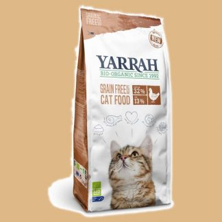 Croquettes Bio pour chat au poulet et au poisson - Marque : Yarrah