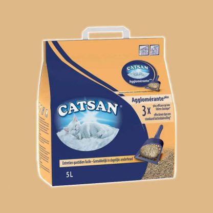 Litière Catsan agglomérante Plus pour chat 5 litres