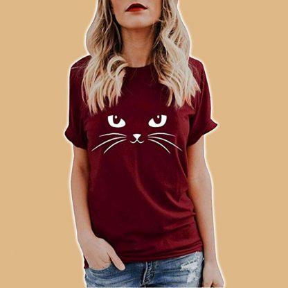 T-shirt manches courtes pour femme avec motifs chats