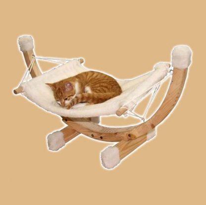 Hamac Siesta blanc pour chat