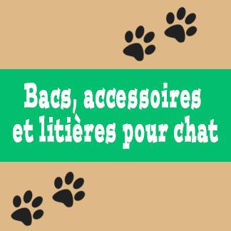Bacs, accessoires et litières pour chat