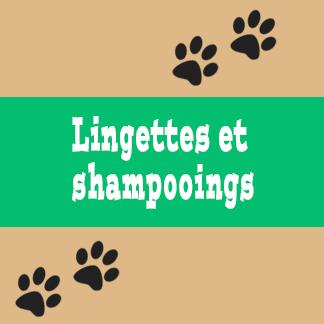 Lingettes et shampooings pour chat