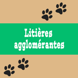 Litières agglomérantes pour chat