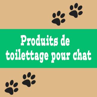 Produits de toilettage pour chat