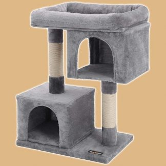 Arbre à chat avec niches et perchoir