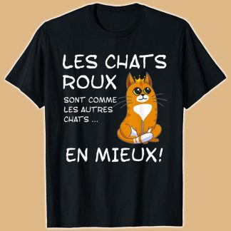T-shirt motif chats