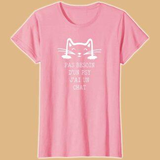 T-shirt chat pour femme