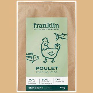 Croquettes sans céréales pour chat adulte stérilisé au poulet