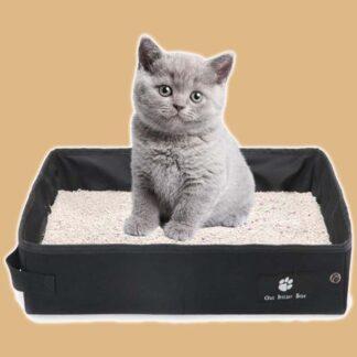 Bac à litière de voyage pour chat
