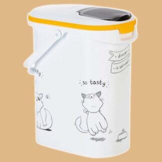 Boîte à croquettes pour chat
