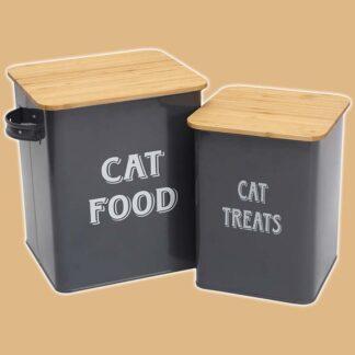 Boîtes à croquettes pour chat